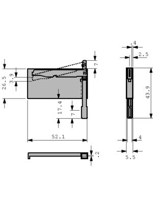 3M - D7E50-7316-03 - CF card ejector N/A, D7E50-7316-03, 3M