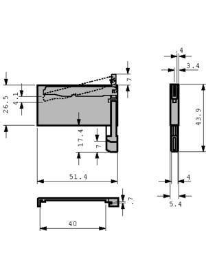 3M - D7E50-8316-03 - CF card ejector N/A, D7E50-8316-03, 3M