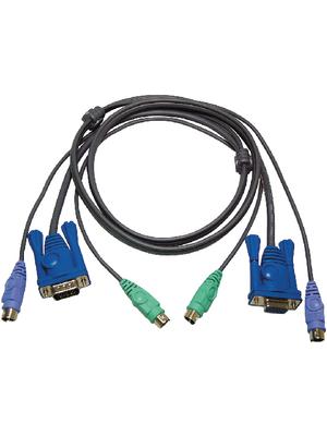 Aten - 2L-5005P/C - KVM combination cable, VGA/PS/2, 2L-5005P/C, Aten