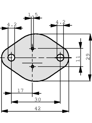 Kunze Folien GmbH - KU-CG20-0H-ST-6-619-L - Heat conducting film TO-3, KU-CG20-0H-ST-6-619-L, Kunze Folien GmbH