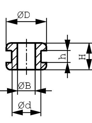 HellermannTyton - HV1205-PVC-BK-M1 - Cable grommet ? 10 mm, HV1205-PVC-BK-M1, HellermannTyton