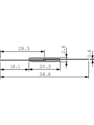Littelfuse - MRPR-8-37-43 - Reed contact 1 make contact (NO) 265 VAC 1.0 A, MRPR-8-37-43, Littelfuse