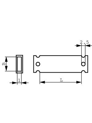 HellermannTyton - HC 18-52 - Backing for labels 52 mm 19 mm 50 p. transparent, HC 18-52, HellermannTyton