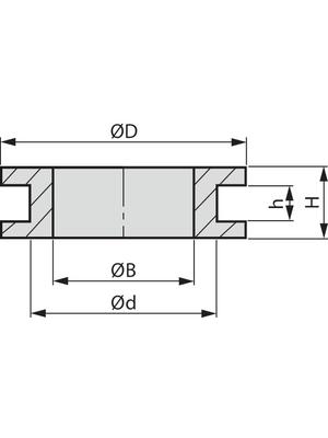 HellermannTyton - HV1304-PVC-BK-M1 - Cable grommet ? 8 mm, HV1304-PVC-BK-M1, HellermannTyton