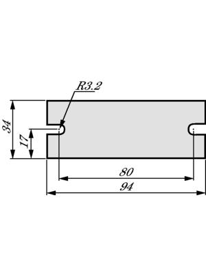 Kunze Folien GmbH - KU-ALF5-0H-KS-34X94MM-L - Heat conducting film SEMITRANS2, KU-ALF5-0H-KS-34X94MM-L, Kunze Folien GmbH