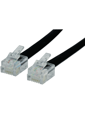 - PB-216-06 - Telephone cable, RJ12 (6P6C) 2.00 m black, PB-216-06