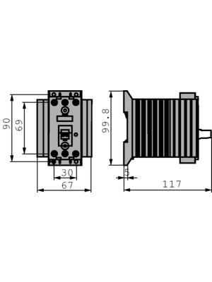 Siemens - 3RF24201AB45 - Solid state relay, three phase 4...30 VDC, 3RF24201AB45, Siemens