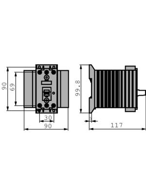 Siemens - 3RF24301AB45 - Solid state relay, three phase 4...30 VDC, 3RF24301AB45, Siemens
