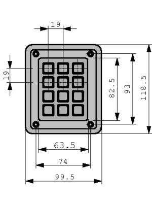 Storm Interface - 4K1201 - Vandal-proof keypad 12-element keyboard (Computer), 4K1201, Storm Interface