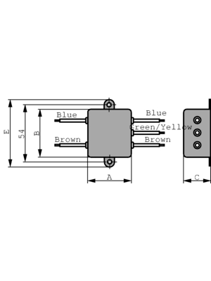 TE Connectivity - 6609020-2 - Mains filter Phases 1 1 A 250 VAC, 6609020-2, TE Connectivity