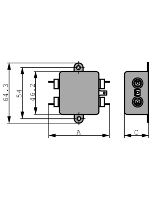 TE Connectivity - 6609020-5 - Mains filter Phases 1 3 A 250 VAC, 6609020-5, TE Connectivity