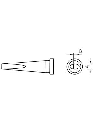 Weller - LT L - Soldering tip Chisel-shaped, long, LT L, Weller