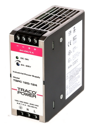Traco Power - TSPC 120-124 - Switched-mode power supply unit for DIN rail / 5.0 A, TSPC 120-124, Traco Power