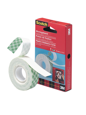 3M - 4026/33 - Double-sided adhesive tape white 19 mm x 33 m, 4026/33, 3M