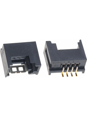 3M - 37204-12E0-004 PL - PCB socket SMD Pitch2 mm Poles 4 Contact DesignFemale Mini-Clamp, 37204-12E0-004 PL, 3M