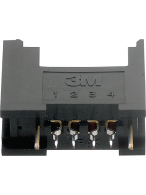3M - 37204-62B3-004 PL - PCB socket, black Pitch2 mm Poles 4 Contact DesignFemale Mini-Clamp, 37204-62B3-004 PL, 3M