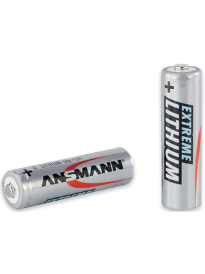 Ansmann - 5021003 - Primary Lithium-Battery 1.5 V FR6/AA Pack of 2 pieces, 5021003, Ansmann