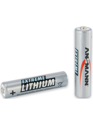 Ansmann - 5021013 - Primary Lithium-Battery 1.5 V FR03/AAA Pack of 2 pieces, 5021013, Ansmann