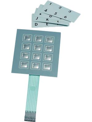 Apem - CCM12TR - Membrane keypad 12 push-buttons, CCM12TR, Apem