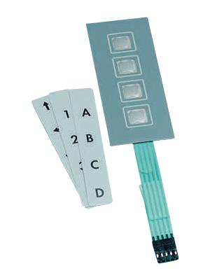 Apem - CCM4TR - Membrane keypad 4 push-buttons, CCM4TR, Apem