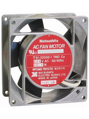 Panasonic - ASEN90215 - Axial fan AC 92 x 92 x 25 mm 66 m3/h 230 VAC 10 W, ASEN90215, Panasonic