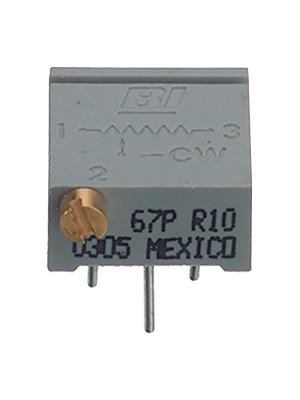 BI Technologies - 67PR200LFTB - Trimmer Cermet 200 Ohm linear 500 mW, 67PR200LFTB, BI Technologies