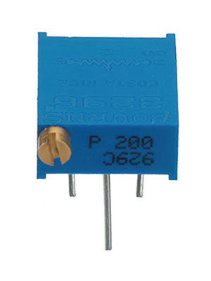 Bourns - 3296P-1-501LF - Trimmer Cermet 500 Ohm linear 500 mW, 3296P-1-501LF, Bourns