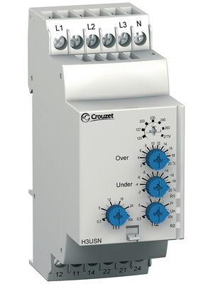 Crouzet - H3USN - Voltage monitoring relay, H3USN, Crouzet