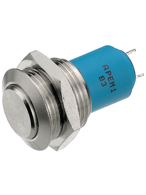 Apem - AV0611A200 - Push-button Switch, vandal proof 16.2 mm 250 VAC 1.5 A 1 make contact (NO), AV0611A200, Apem