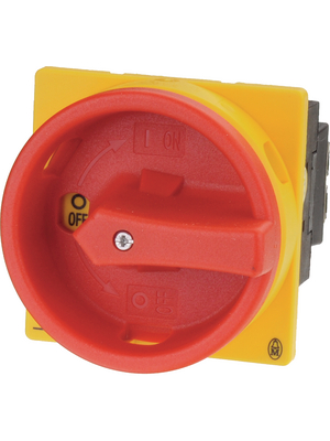 Eaton - T0-1-8200/EA/SVB - EMERGENCY STOP main switch 6.5 kW Switch positions 2 Poles 1, T0-1-8200/EA/SVB, Eaton