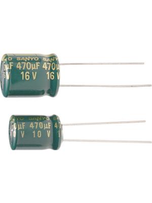 Suncon - 6ME3900WX - Aluminium Electrolytic Capacitor 3.9 mF 6.3 VDC, 6ME3900WX, Suncon