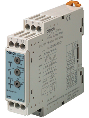 Omron Industrial Automation - K8AB-PW2 - Phase monitoring relay, K8AB-PW2, Omron Industrial Automation