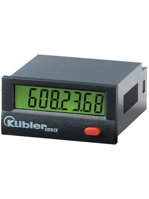 Kübler - 6.134.012.853 - Hour Meter 7-digit - LCD 100000 h 10...260 VAC/DC, 6.134.012.853, Kübler