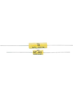 Icel - MPL 125 3220 FD - Capacitor, axial 220 nF 250 VDC / 200 VAC, MPL 125 3220 FD, Icel