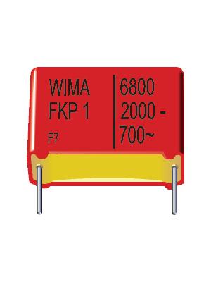 Wima - FKP1T023306D00KSSD - Capacitor, radial 33 nF ±10% 1600 VDC / 650 VAC, FKP1T023306D00KSSD, Wima