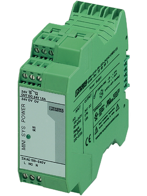 Phoenix Contact - MINI-SYS-PS-100-240AC/24DC/1.5 - Switched-mode power supply / 1.5 A, MINI-SYS-PS-100-240AC/24DC/1.5, Phoenix Contact