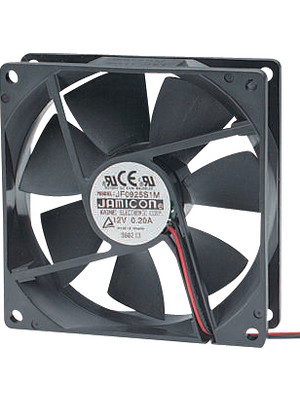 Jamicon - JF1225B2H-000-065R - Axial fan 120 x 120 x 25 mm 141 m3/h 24 VDC 6 W, JF1225B2H-000-065R, Jamicon