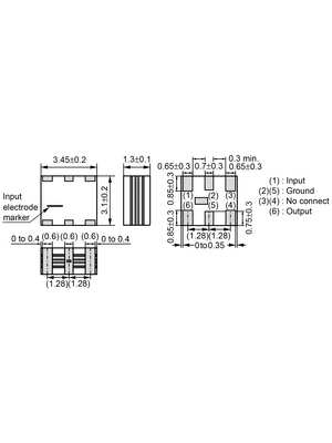 Murata - SFECF10M7HA00-R0 - Resonator 2 contacts 10.7 MHz, SFECF10M7HA00-R0, Murata