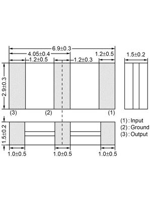 Murata - SFECV10M7JA00-R0 - Resonator 3 contacts 10.7 MHz, SFECV10M7JA00-R0, Murata