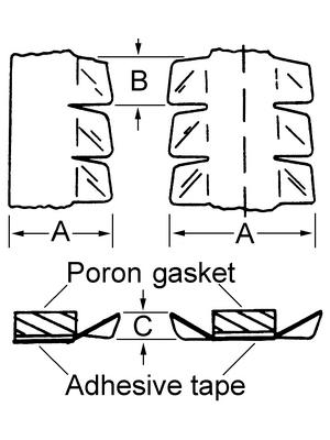 Laird - 97-550-02 - Shielding strip, 97-550-02, Laird