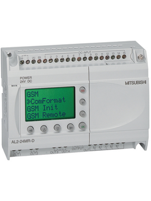 Mitsubishi Electric - AL2-14MR-D - Alpha XL base unit ALPHA, 8 D/AI, 6 RO, AL2-14MR-D, Mitsubishi Electric