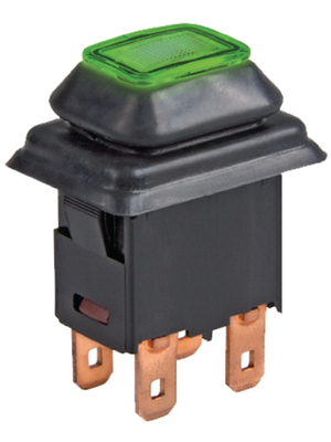 Marquardt - 1687.1104 - Push-button switch 2Pgreen IP 40, 1687.1104, Marquardt