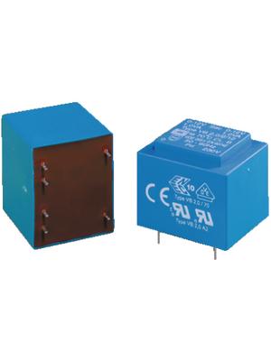 Block - VB 0.35/2/12 - PCB transformer 0.35 VA 12 VAC  (2x), VB 0.35/2/12, Block