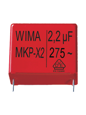 Wima - MKX21W32204F00KSSD - X2 capacitor, 220 nF, 275 VAC, MKX21W32204F00KSSD, Wima