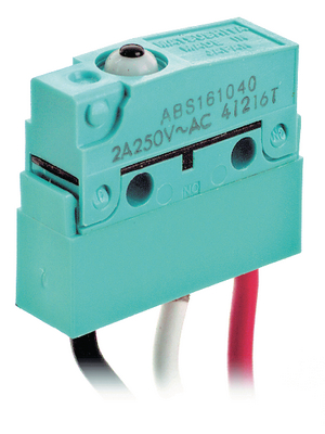 Panasonic - ABS161040J - Micro switch 2 AAC Plunger N/A 1 change-over (CO), ABS161040J, Panasonic