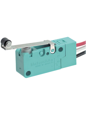 Panasonic - ABV161661J - Micro switch 3 AAC Roller lever N/A 1 change-over (CO), ABV161661J, Panasonic