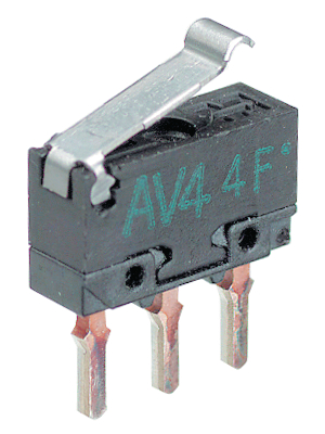 Panasonic - AV4004J - Micro switch 0.55 ADC Plunger N/A 1 change-over (CO), AV4004J, Panasonic
