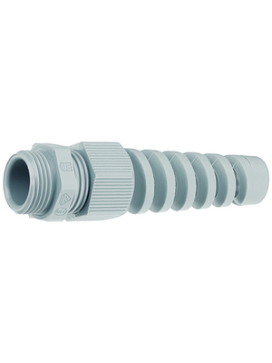 Jacob - 50011M16PABS - Cable gland M16 x 1.5 5...10 mm 15 mm Polyamide grey, RAL 7001 IP 68, 50011M16PABS, Jacob