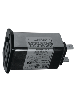 TE Connectivity - 6609018-5 - Power inlet with filter 6 A 250 VAC, 6609018-5, TE Connectivity