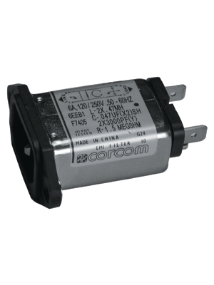 TE Connectivity - 6609001-1 - Power inlet with filter 1 A 250 VAC, 6609001-1, TE Connectivity